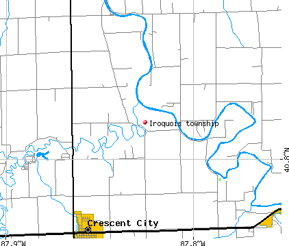 Iroquois township, IL map