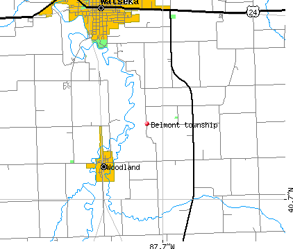 Belmont township, IL map