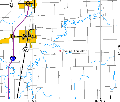 Onarga township, IL map