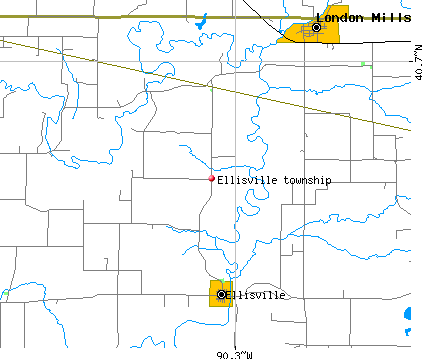 Ellisville township, IL map