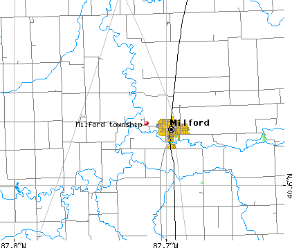 Milford township, IL map