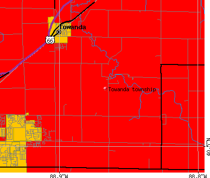Towanda township, IL map