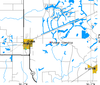 Putman township, IL map