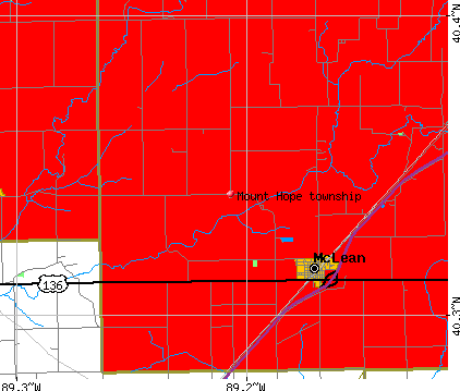Mount Hope township, IL map