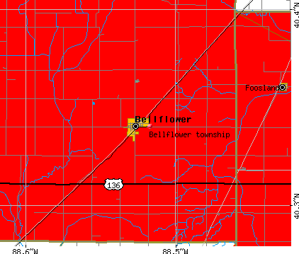 Bellflower township, IL map