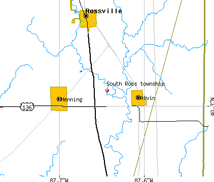 South Ross township, IL map