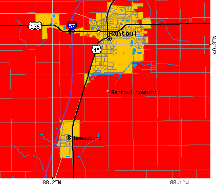 Rantoul township, IL map