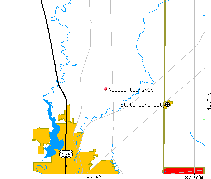 Newell township, IL map
