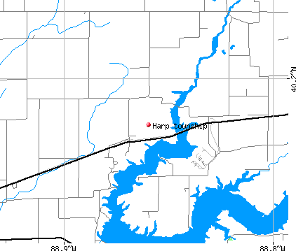 Harp township, IL map
