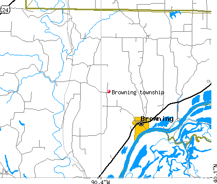 Browning township, IL map