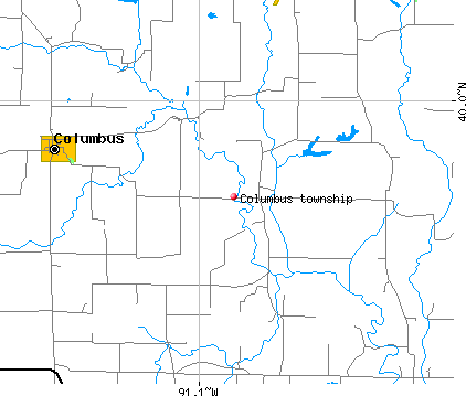 Columbus township, IL map