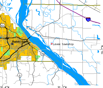 Levee township, IL map