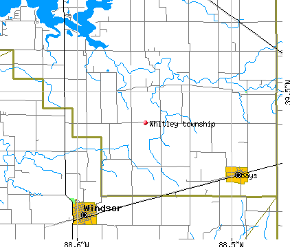 Whitley township, IL map