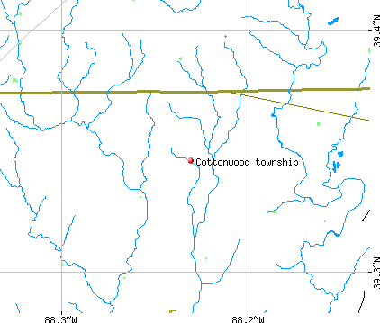 Cottonwood township, IL map