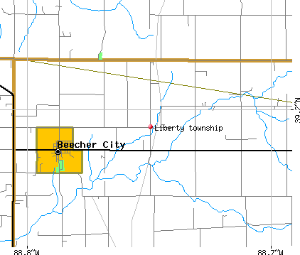 Liberty township, IL map