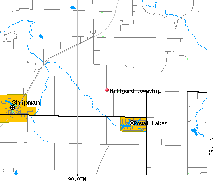 Hillyard township, IL map