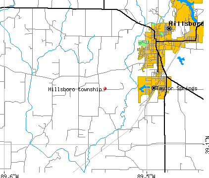 Hillsboro township, IL map