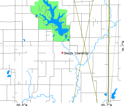 Omega township, IL map
