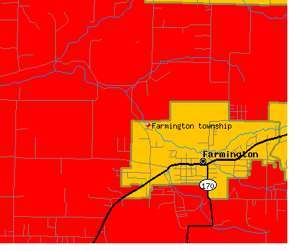 Farmington township, AR map