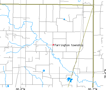 Farrington township, IL map
