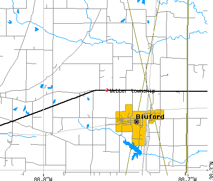 Webber township, IL map