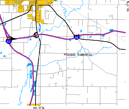 Dodds township, IL map