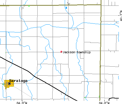 Jackson township, IN map