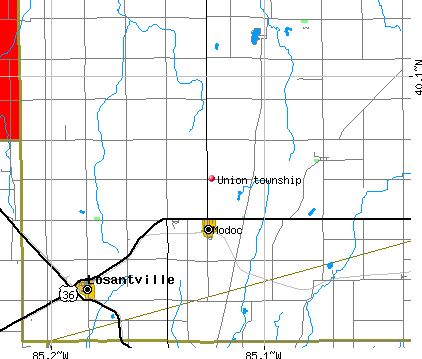 Union township, IN map
