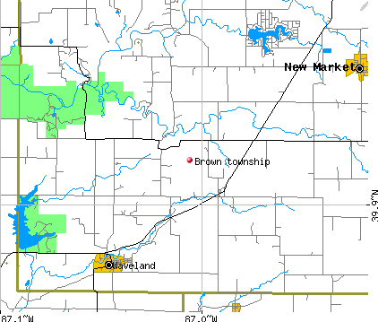 Brown township, IN map