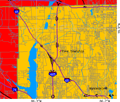 Pike township, IN map