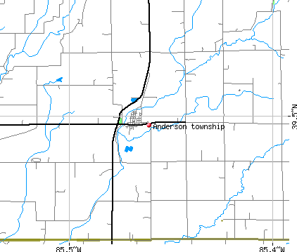 Anderson township, IN map