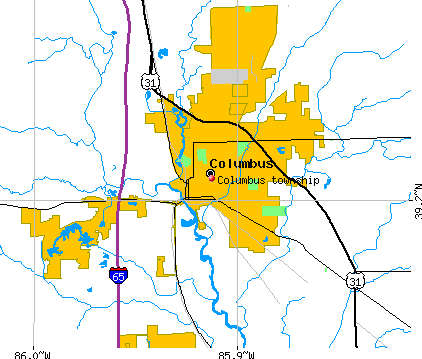 Columbus township, IN map