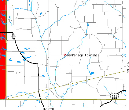 Jefferson township, IN map