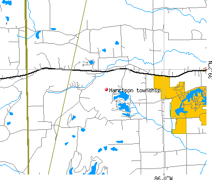 Harrison township, IN map