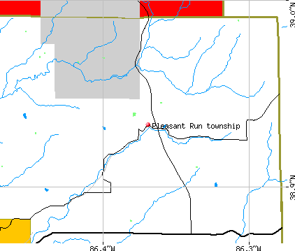 Pleasant Run township, IN map