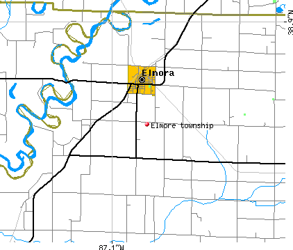 Elmore township, IN map