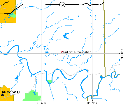 Guthrie township, IN map