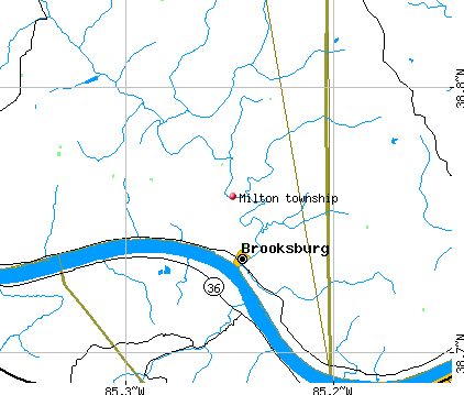 Milton township, IN map