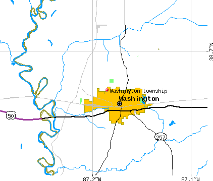 Washington township, IN map