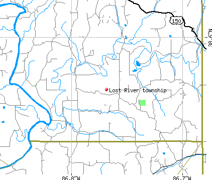Lost River township, IN map