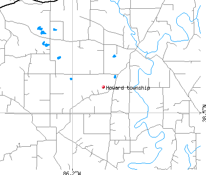 Howard township, IN map