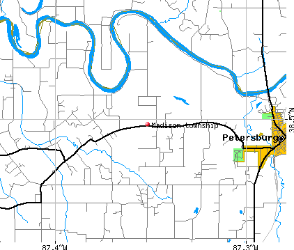 Madison township, IN map