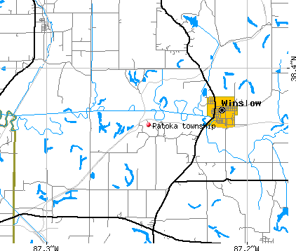 Patoka township, IN map
