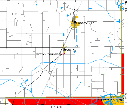 Barton township, IN map