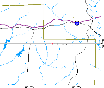 Oil township, IN map