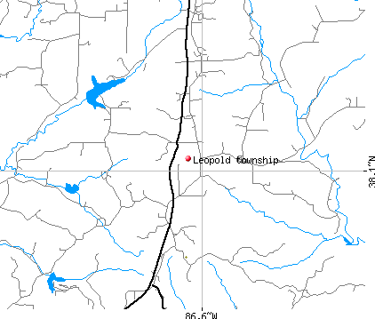 Leopold township, IN map
