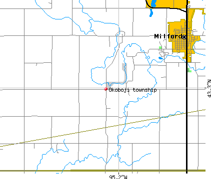Okoboji township, IA map