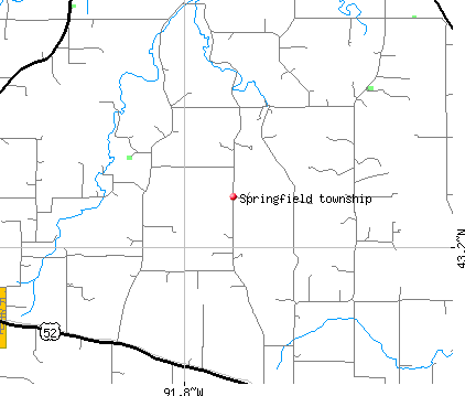 Springfield township, IA map