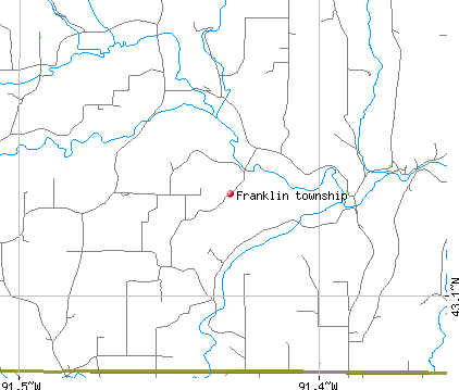 Franklin township, IA map