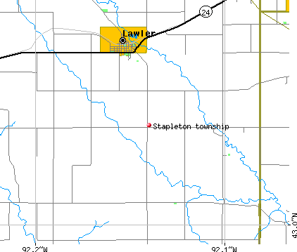 Stapleton township, IA map